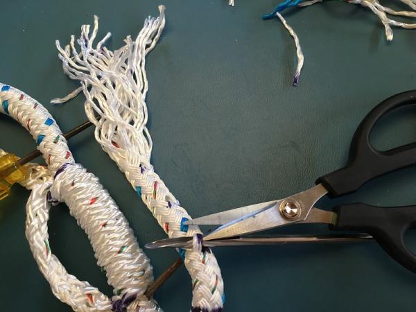 Samson eye splice for class I double braid rope - s/v Jedi